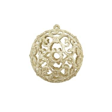 vidaXL Božično novoletne kroglice 100-delni komplet 6 cm zlate[3/11]