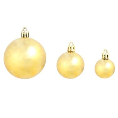 vidaXL Julgranskulor 100 delar set 6 cm guld[4/11]