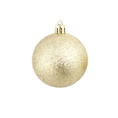 vidaXL Božično novoletne kroglice 100-delni komplet 6 cm zlate[7/11]