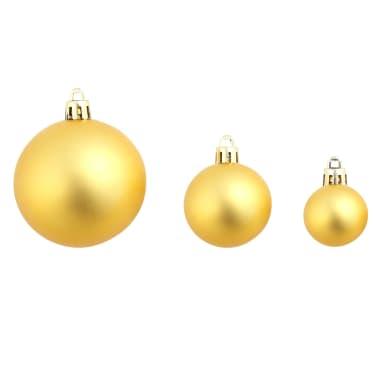 vidaXL Božično novoletne kroglice 100-delni komplet 6 cm zlate[8/11]