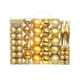 vidaXL 113-osaline jõulukuulide komplekt, 6 cm, kuldne