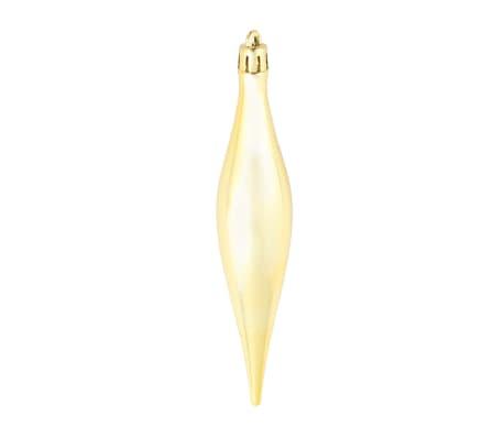 vidaXL Eglutės žaisliukų rinkinys, 113 vnt., 6 cm, auksinės spalvos[9/13]