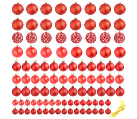 vidaXL julekuglesæt 100 stk. 6 cm rød[2/11]