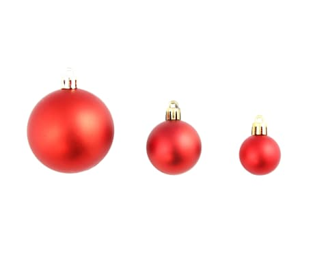 vidaXL julekuglesæt 100 stk. 6 cm rød[4/11]