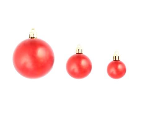 vidaXL julekuglesæt 100 stk. 6 cm rød[6/11]