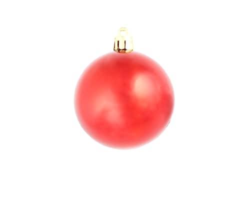 vidaXL Set globuri de Crăciun 113 piese, 6 cm Roșu[7/13]