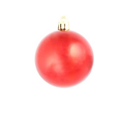 vidaXL Set globuri de Crăciun 113 piese, 6 cm Roșu[6/13]