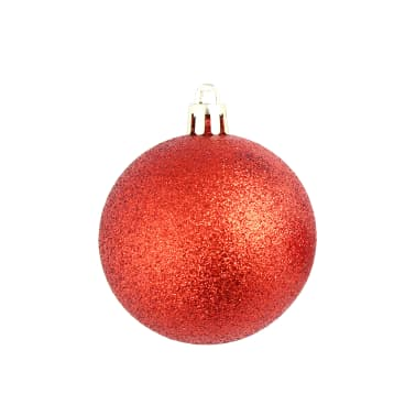vidaXL Set globuri de Crăciun 113 piese, 6 cm Roșu[8/13]