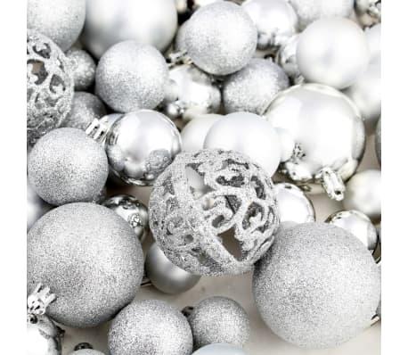 vidaXL julekuglesæt 100 stk. 6 cm sølvfarvet[11/11]