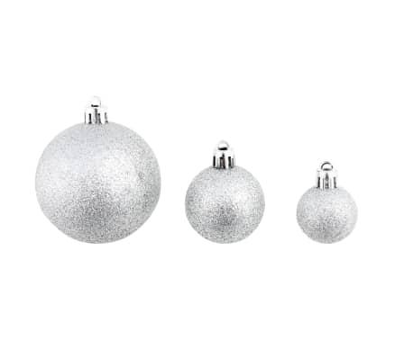 vidaXL julekuglesæt 100 stk. 6 cm sølvfarvet[4/11]