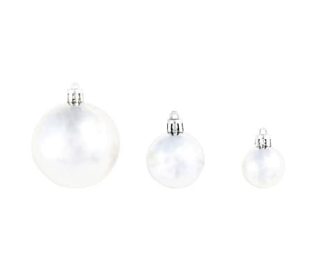 vidaXL 100-tlg. Weihnachtskugel-Set 6 cm Silbern[6/11]