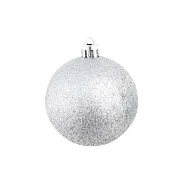 vidaXL julekuglesæt 100 stk. 6 cm sølvfarvet[5/11]