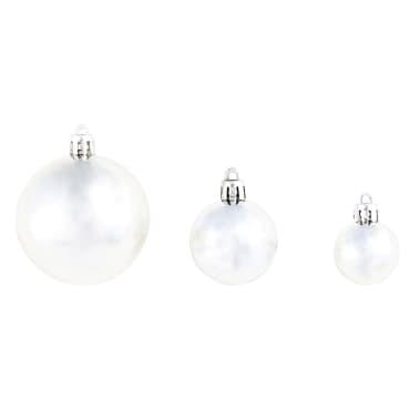 vidaXL julekuglesæt 100 stk. 6 cm sølvfarvet[6/11]