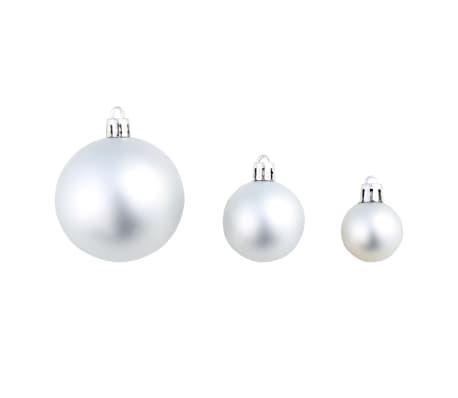 vidaXL 113-tlg. Weihnachtskugel-Set 6 cm Silbern[5/13]