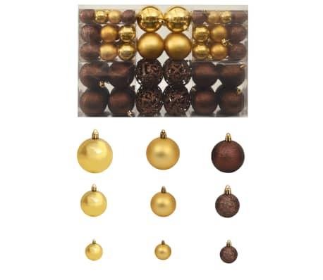 vidaXL 100-tlg. Weihnachtskugel-Set 6 cm Braun/Bronze/Golden[1/11]