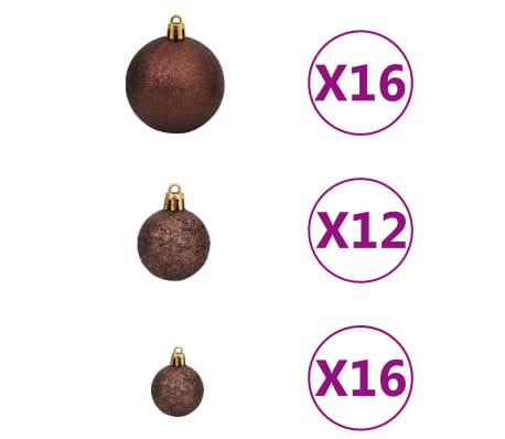 vidaXL Kerstballenset 6 cm bruin/brons/goud 100-delig[2/11]