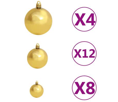 vidaXL 100-tlg. Weihnachtskugel-Set 6 cm Braun/Bronze/Golden[3/11]
