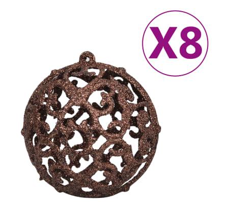 vidaXL 100-tlg. Weihnachtskugel-Set 6 cm Braun/Bronze/Golden[5/11]