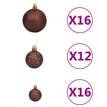 vidaXL 100-tlg. Weihnachtskugel-Set 6 cm Braun/Bronze/Golden[2/11]