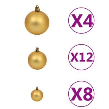 vidaXL 100-tlg. Weihnachtskugel-Set 6 cm Braun/Bronze/Golden[4/11]