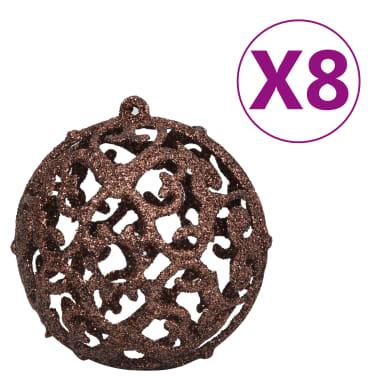 vidaXL Kerstballenset 6 cm bruin/brons/goud 100-delig[5/11]