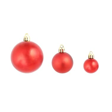 vidaXL 100-tlg. Weihnachtskugel-Set 6 cm Rot/Golden/Grün[3/18]
