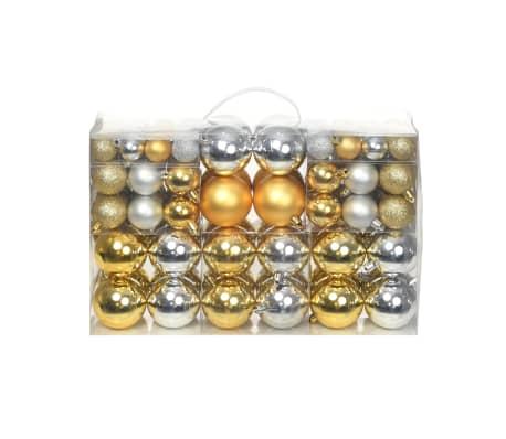 Julgranskulor 100 st silver/guld