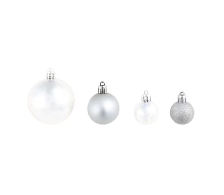 vidaXL Lote de bolas de Navidad 100 unidades plateadas/doradas 6 cm[3/16]