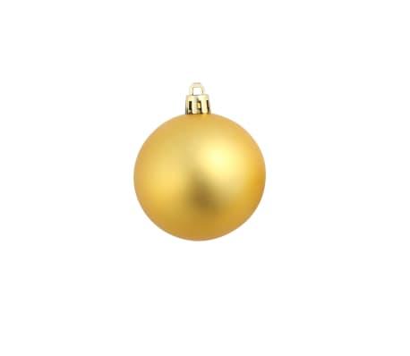 vidaXL Lote de bolas de Navidad 100 unidades plateadas/doradas 6 cm[9/16]