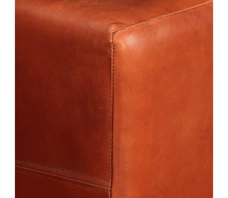 vidaXL Trivietė sofa, tamsiai ruda, tikra oda[9/16]