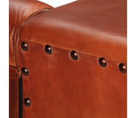 vidaXL Trivietė sofa, tamsiai ruda, tikra oda[10/16]