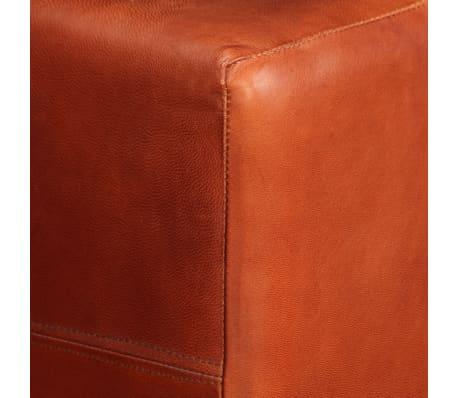 vidaXL Dvivietė sofa, tamsiai ruda, tikra oda[9/16]