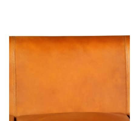 vidaXL Trivietė sofa, šviesiai ruda, tikra oda[10/15]