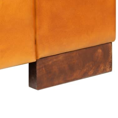 vidaXL Trivietė sofa, šviesiai ruda, tikra oda[9/15]
