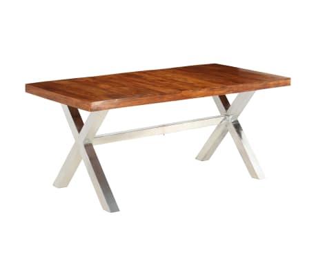 Rørig Shop vidaXL spisebord i massivt træ med sheesham-finish 180 x 90 x BK-75