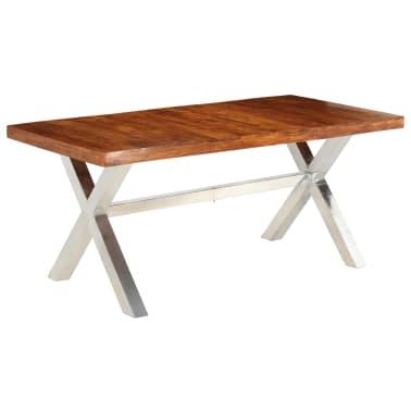 vidaXL Jídelní stůl masivní dřevo s sheeshamovým povrchem 180x90x76 cm[1/12]