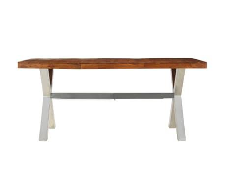 vidaXL Jídelní stůl masivní dřevo s sheeshamovým povrchem 180x90x76 cm[2/12]