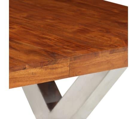 vidaXL Jídelní stůl masivní dřevo s sheeshamovým povrchem 180x90x76 cm[4/12]