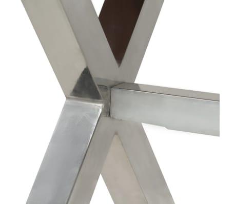 vidaXL Jídelní stůl masivní dřevo s sheeshamovým povrchem 180x90x76 cm[5/12]