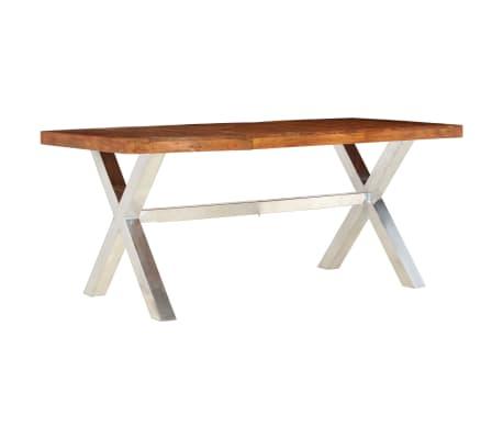 vidaXL Jídelní stůl masivní dřevo s sheeshamovým povrchem 180x90x76 cm[7/12]