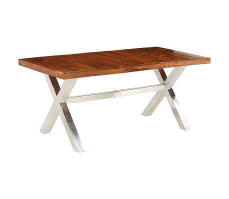 vidaXL Jídelní stůl masivní dřevo s sheeshamovým povrchem 180x90x76 cm[10/12]