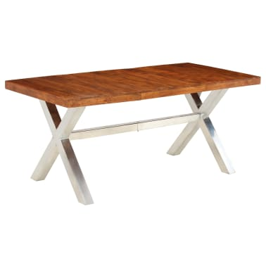 vidaXL Jídelní stůl masivní dřevo s sheeshamovým povrchem 180x90x76 cm[11/12]