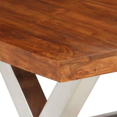 vidaXL Jídelní stůl masivní dřevo s sheeshamovým povrchem 180x90x76 cm[6/12]