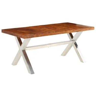 vidaXL Jídelní stůl masivní dřevo s sheeshamovým povrchem 180x90x76 cm[8/12]