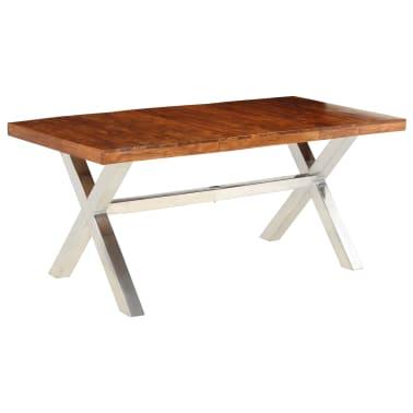 vidaXL Jídelní stůl masivní dřevo s sheeshamovým povrchem 180x90x76 cm[9/12]