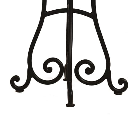 vidaXL Valgomojo stalas, akac. med. su rausv. dalb. apdaila, 80x76cm [6/12]