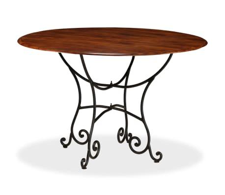 vidaXL Jídelní stůl masivní akáciové dřevo sheeshamový povrch 120x76cm[1/12]