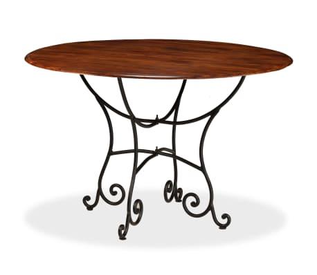 vidaXL Jídelní stůl masivní akáciové dřevo sheeshamový povrch 120x76cm[3/12]