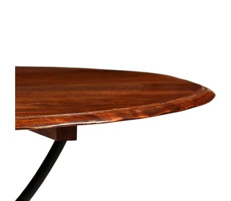 vidaXL Jídelní stůl masivní akáciové dřevo sheeshamový povrch 120x76cm[5/12]