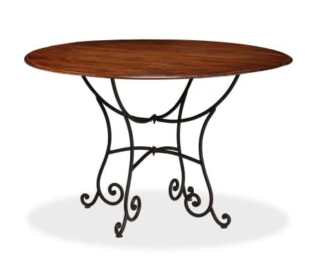 vidaXL Jídelní stůl masivní akáciové dřevo sheeshamový povrch 120x76cm[9/12]